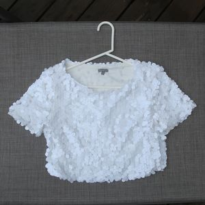 Sequin Crop Top Charlotte Russe size S like new